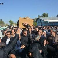 فیلم مراسم تشییع عارف لرستانی در کرمانشاه ۲۸ فروردین ۹۶