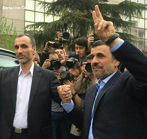 فیلم ثبت نام بقایی با احمدی نژاد در انتخابات 23 فروردین 96