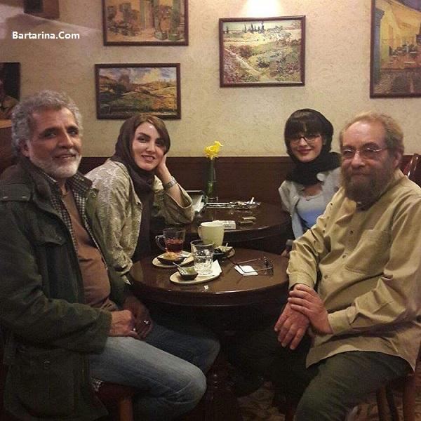 عکس بد حجاب شکیبا همسر مسعود فراستی در کنار زن افخمی