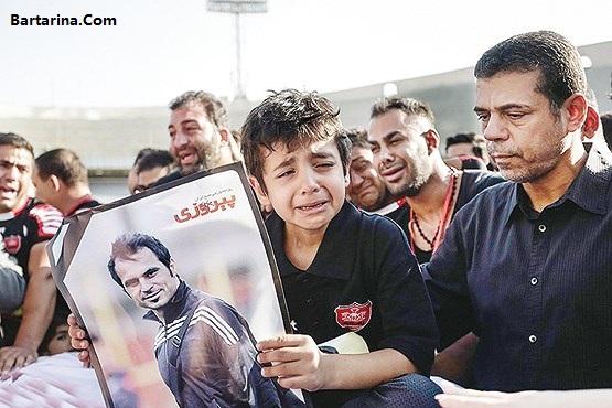 گریه راه ندادن هانی نوروزی پسر هادی در جشن قهرمانی پرسپولیس