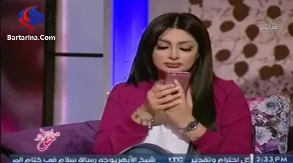 فیلم طلاق هبه الزیاد مجری زن در برنامه زنده تلویزیونی مصر