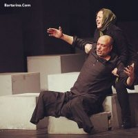 عکس بغل کردن امیر جعفری توسط مهراوه شریفی نیا در تئاتر ترن