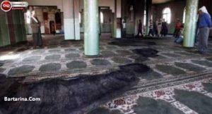 عکس آتش زدن امام جماعت فلسطین بخاطر طولانی کردن نماز