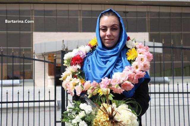 عکس لحظه ورود نرگس کلباسی به اصفهان ایران 23 فروردین 96