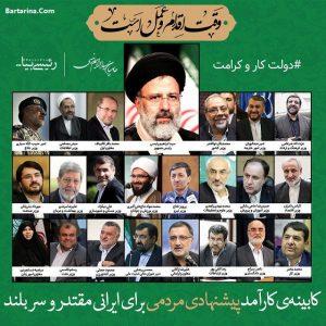 اسامی لیست جنجالی وزیران کابینه ابراهیم رئیسی + توضیح و عکس