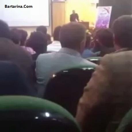 فیلم توهین به امام رضا در افتتاحیه ستاد روحانی در ایلام