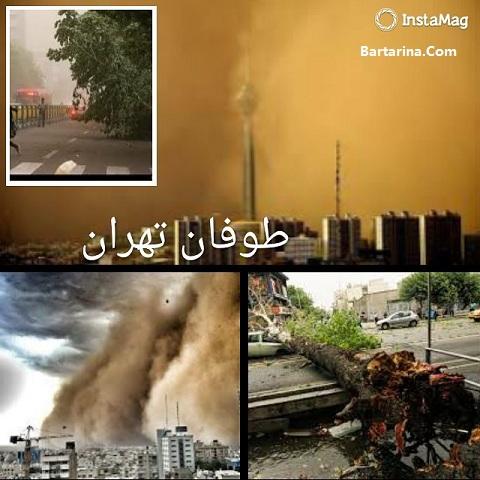 فیلم طوفان در فرودگاه مهرآباد تهران 4 اردیبهشت 96 عکس توفان