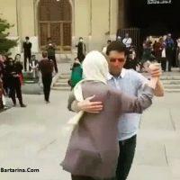 فیلم رقص زیبا دو توریست زن و مرد در میدان نقش جهان اصفهان