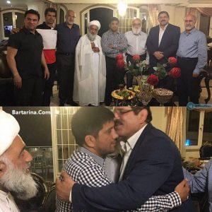 فیلم آشتی کنان عباس جدیدی و علیرضا دبیر در شورای شهر تهران