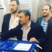 فیلم رای دادن احمدی نژاد و بقایی انتخابات ۲۹ اردیبهشت ۹۶