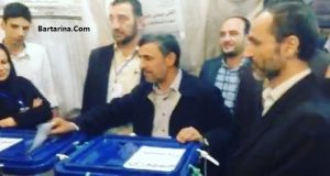 فیلم رای دادن احمدی نژاد و بقایی انتخابات 29 اردیبهشت 96