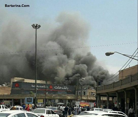 فیلم آتش سوزی در پاساژ رضوان اهواز پنجشنبه 21 اردیبهشت 96
