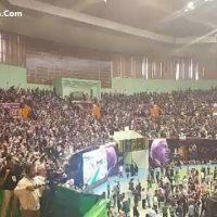 فیلم سخنرانی روحانی در همایش سالن سلام آزادی ۲۳ اردیبهشت ۹۶