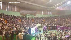 فیلم سخنرانی روحانی در همایش سالن سلام آزادی 23 اردیبهشت 96