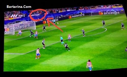 بنر اهواز هوا ندارد در بازی اتلتیکو و رئال مادرید + عکس