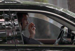 عکس جنجالی لورفته بوفون در حال سیگار کشیدن در داخل ماشین