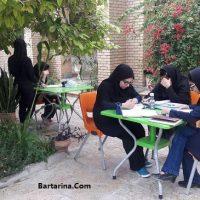 کشف چادر حجاب دانش آموزان دختر در امتحان تیزهوشان قم + عکس
