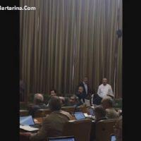 فیلم درگیری اسماعیل دوستی و محمد حقانی در شورای شهر تهران