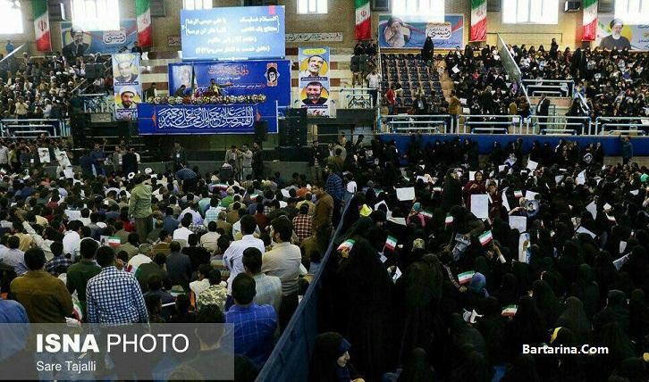 جنجال پرده کشی بین زنان و مردان در سخنرانی رئیسی در کرمان