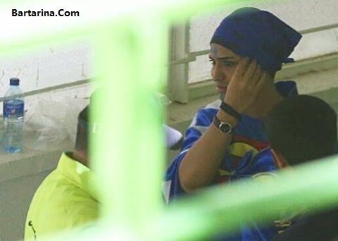 دستگیری دختر پسرنما در ورزشگاه آزادی بازی استقلال و العین