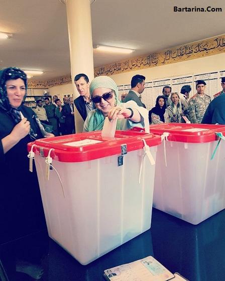 عکس بازیگران زن پای صندوق های رای انتخابات 29 اردیبهشت 96