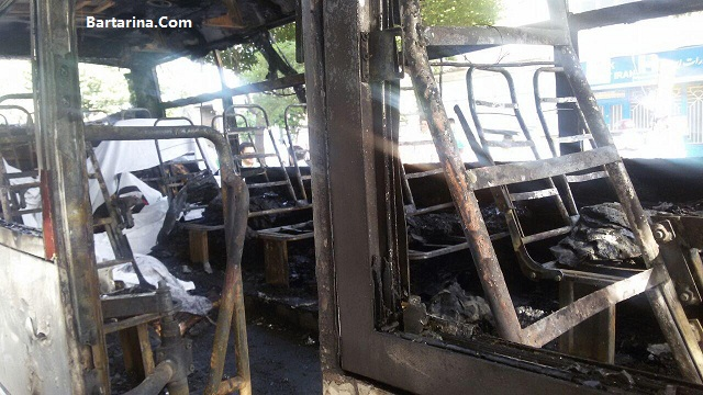 فیلم آتش سوزی مینی بوس در اتوبان سعیدی تهران 27 اردیبهشت 96