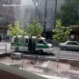 فیلم زیر گرفتن یک دختر توسط ماشین پلیس گشت ارشاد