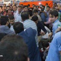 کتک کاری و دعوا در سخنرانی قالیباف در شیراز ۲۴ اردیبهشت ۹۶