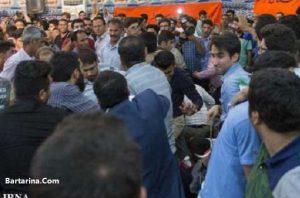 کتک کاری و دعوا در سخنرانی قالیباف در شیراز 24 اردیبهشت 96
