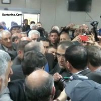فیلم توهین قاضی زاده وزیر بهداشت به خبرنگار روزنامه قدس