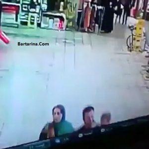 فیلم لحظه تیراندازی به دو زن بازار اسلام آباد غرب کرمانشاه