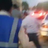 فیلم برخورد زشت محافظان روحانی با یک جانباز در اهواز