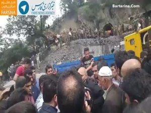 فیلم توهین و اعتراض کارگران معدن آزادشهر به رئیس جمهور