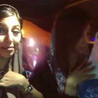 فیلم جشن دختر مهدی رادپور مدیر نفتی داخل ماشین برای روحانی