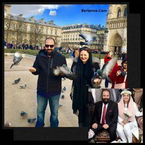 عکس های ماه عسل نرگس محمدی و علی اوجی در خارج از کشور