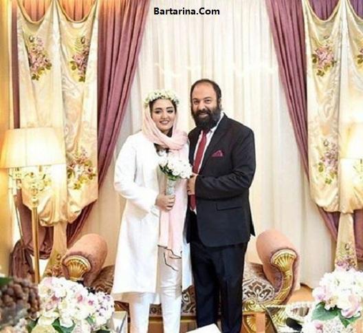 عکس مراسم عقد نرگس محمدی
