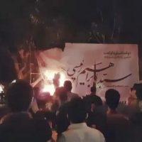فیلم حمله به ستاد ابراهیم رئیسی در شیراز ۲۷ اردیبهشت ۹۶