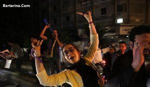 فیلم رقص دختر مشهدی روی ماشین برای پیروزی روحانی در انتخابات