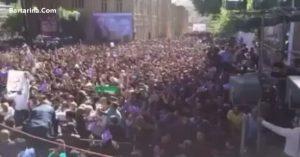 فیلم سخنان روحانی درباره دلواپسان در خرم آباد 24 اردیبهشت 96