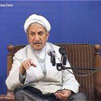 فیلم حمایت آیت الله صانعی از حسن روحانی در انتخابات ۹۶