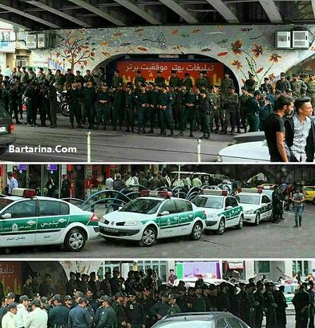 فیلم حمله لباس شخصی به طرفداران روحانی در آبرسان تبریز
