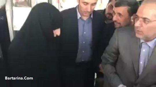 فیلم درگیری هواداران رهبر و احمدی نژاد بهشت زهرا 11 خرداد 96