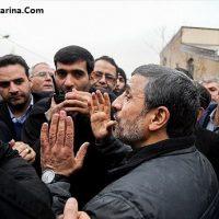 فیلم احمدی نژاد در مراسم تشییع شهدای ترور توسط داعش در تهران