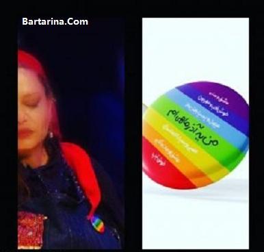 لباس همجنسگرایی بهاره رهنما در تئاتر + فیلم نماد همجنس گرایی