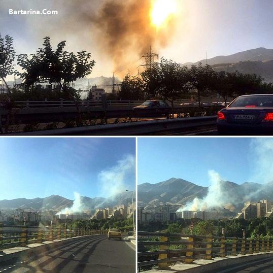 Fire Teh Bartarina.com  - فیلم آتش سوزی در دشت بهشت شمال بزرگراه یادگار امام تهران