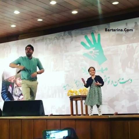 فیلم رقص دختر و جواد رضویان در کنسرت حامد همایون در خیریه