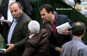 فیلم تیراندازی و درگیری در راهروی مجلس امروز صبح 17 خرداد 96