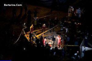 فیلم ریزش تونل مترو خط هفت خیابان مولوی تهران خرداد 96