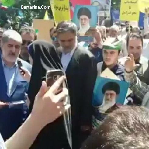 Mottahari Bartarina.com  - فیلم شعار و توهین به علی مطهری در راهپیمایی روز قدس ۲ تیر ۹۶