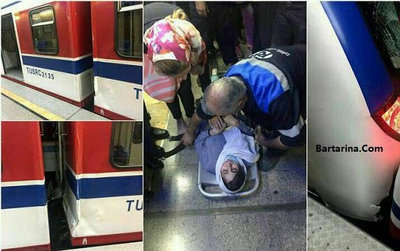 فیلم تصادف دو قطار مترو ایستگاه طرشت تهران 16 خرداد 96
